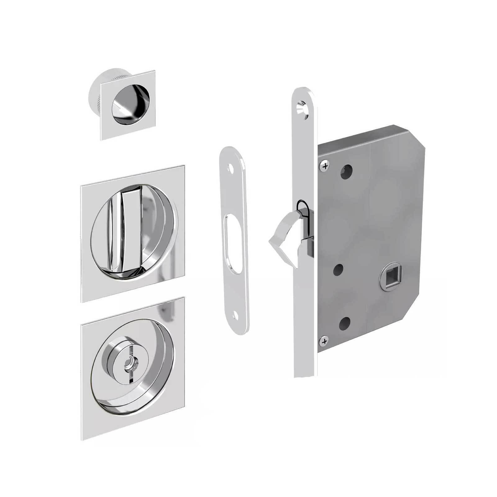 Pocket door locks manital sliding pocket door lock knape and vogt bx1062us3 kvsterling sliding - Sliding door combination lock ...