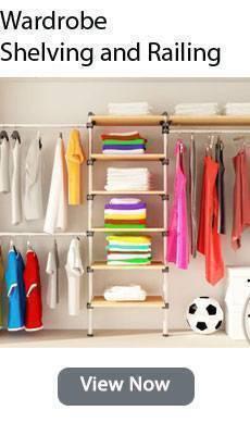 Wardrobe Railing and Shelving Kits