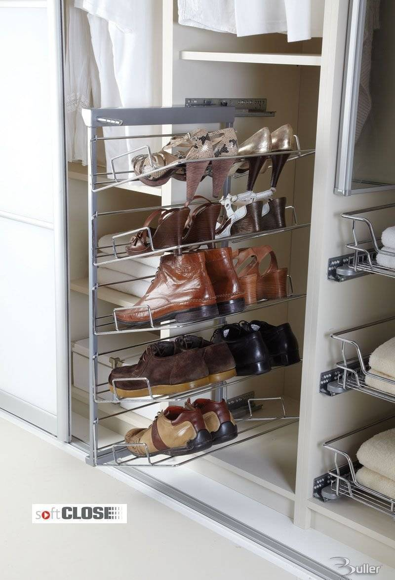 Five Tier Pull Out Shoe Rack Soft Close