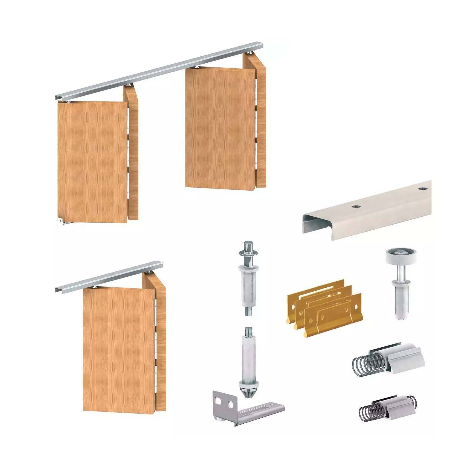 Apollo folding door gear diy track kit for Folding doors