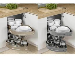 Blind corner pull out tray