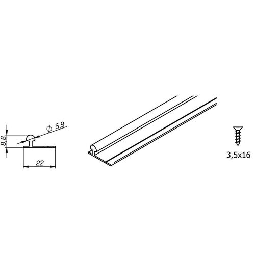 0699-001-4-tracks-set-for-mars-or-fastor-door-gear-various-lengths