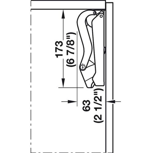 4621-001-free-space-single-door-flap-fitting-anthracite