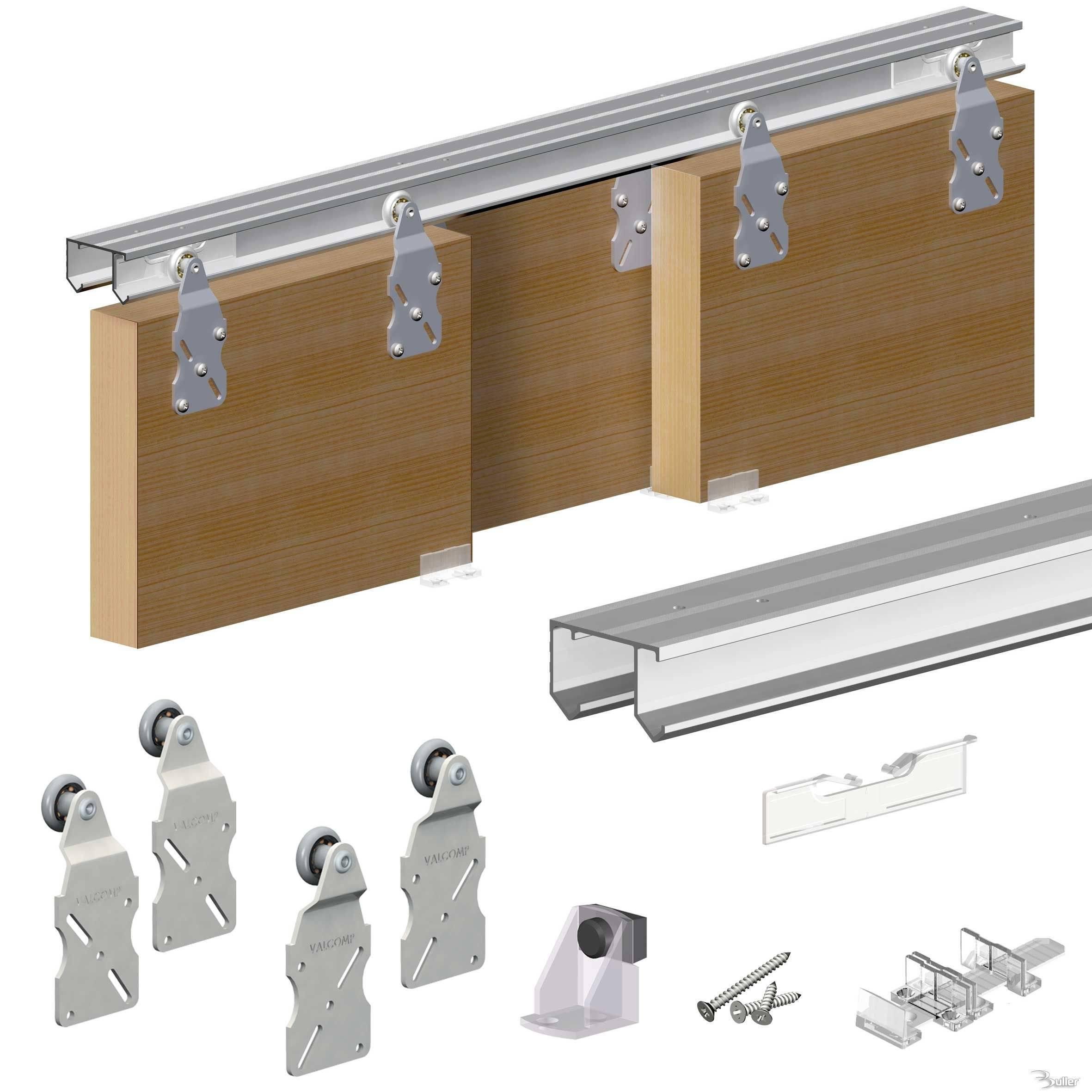 horus top hung sliding door system wardrobe track kit. Black Bedroom Furniture Sets. Home Design Ideas