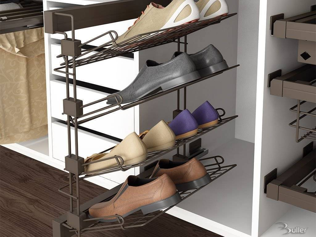 4 tier pull out shoe rack soft close - Zapateros para armarios ...