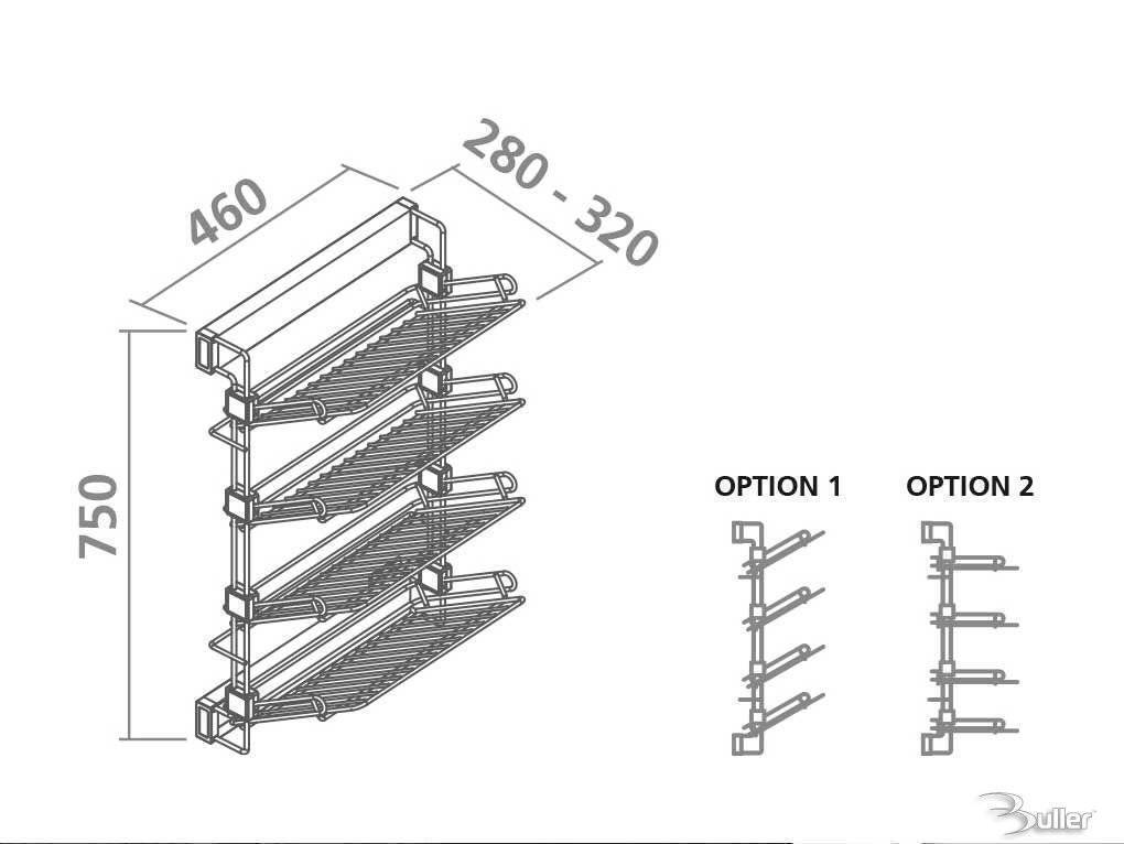 4 Tier Pull Out Shoe Rack Soft Close