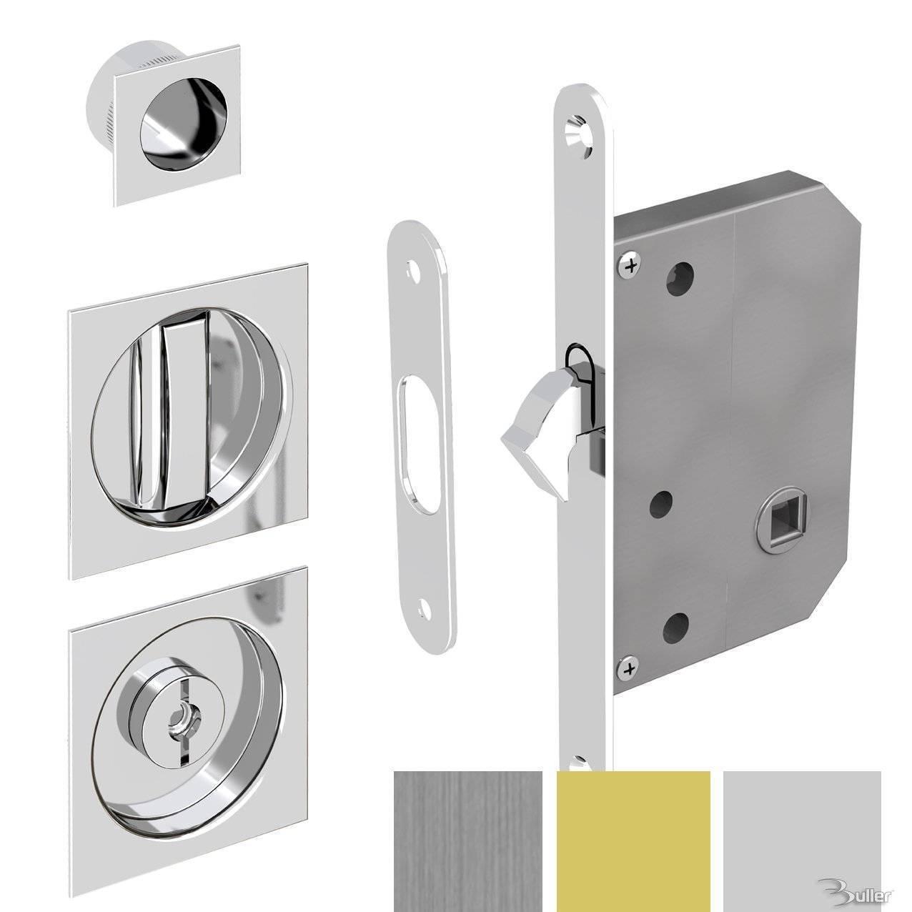 Sliding door lock for bathroom doors square for Sliding door for main door