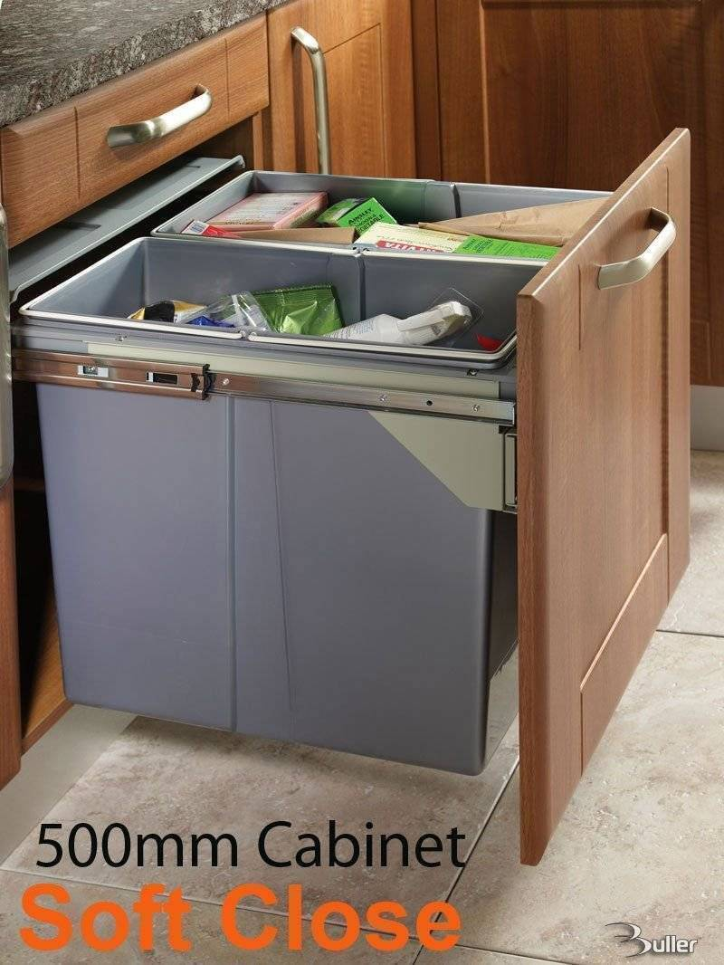 waste baskets for kitchen cabinets pullout waste bin 500mm 8908